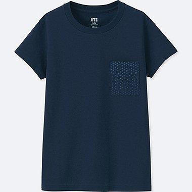 DAMEN T-SHIRT MICKEY BLUE
