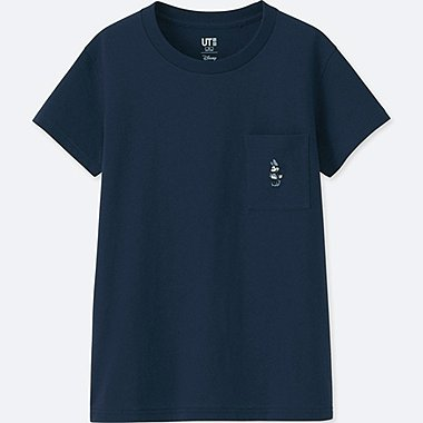WOMEN MICKEY BLUE SHORT-SLEEVE GRAPHIC T-SHIRT, NAVY, medium