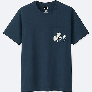 MEN MICKEY ART SHORT-SLEEVE GRAPHIC T-SHIRT (JAMES JARVIS), NAVY, medium