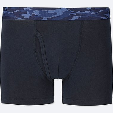 MEN SUPIMA® COTTON BOXER BRIEFS, NAVY, medium