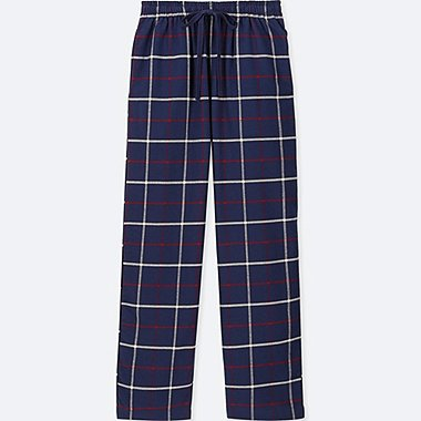 WOMEN FLANNEL CHECKED TROUSERS