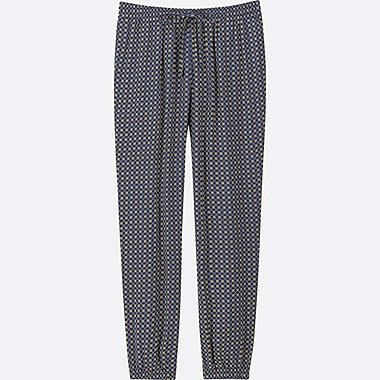 WOMEN DRAPE JOGGER PANTS (GEOMETRIC)
