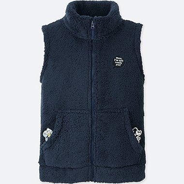 KIDS DISNEY FLUFFY YARN FLEECE VEST