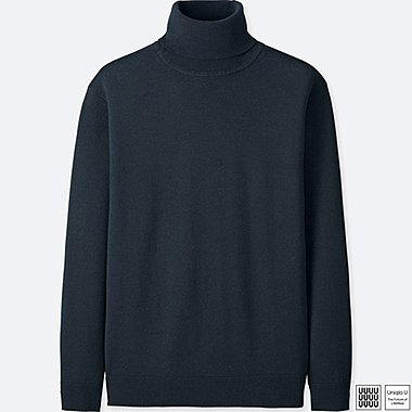 MEN UNIQLO U EXTRA FINE MERINO TURTLE NECK LONG SLEEVE SWEATER