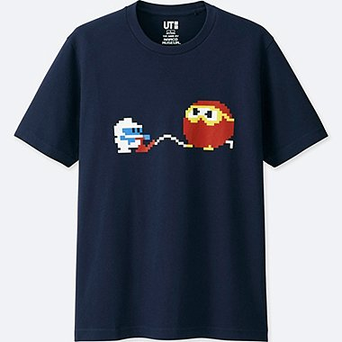 THE GAME BY NAMCO MUSEUM SHORT-SLEEVE GRAPHIC T-SHIRT (DIG DUG), NAVY, medium