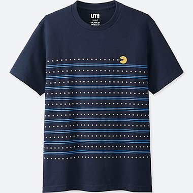 THE GAME BY NAMCO MUSEUM SHORT-SLEEVE GRAPHIC T-SHIRT (PAC-MAN), NAVY, medium