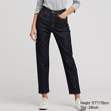WOMEN HIGH RISE STRAIGHT FIT JEANS