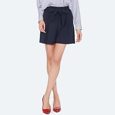 WOMEN DRAPE SHORTS