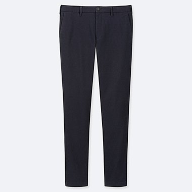MEN SLIM-FIT CHINO FLAT-FRONT PANTS, NAVY, medium
