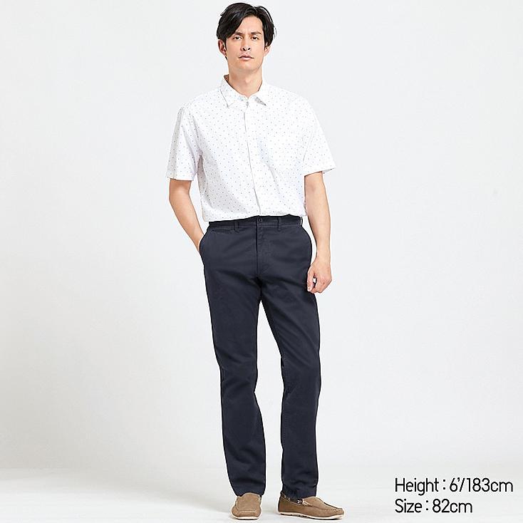MEN VINTAGE REGULAR-FIT CHINO FLAT-FRONT PANTS, NAVY, large