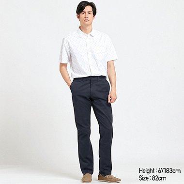 MEN VINTAGE REGULAR-FIT CHINO FLAT-FRONT PANTS, NAVY, medium