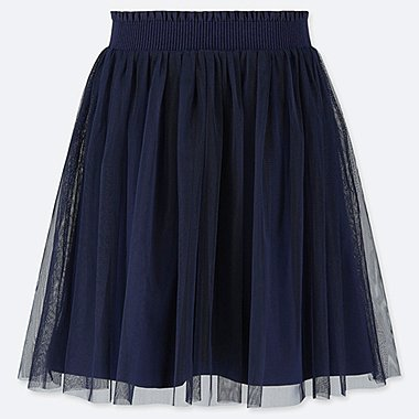 GIRLS TULLE SKIRT, NAVY, medium