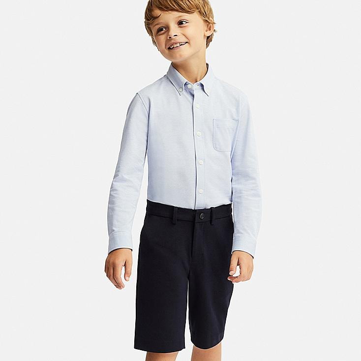BOYS COMFORT HALF PANTS, NAVY, large