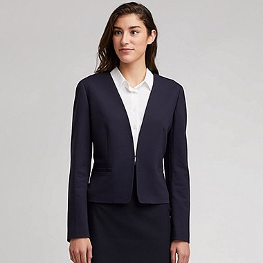 a59236fde22 WOMEN PONTE COLLARLESS JACKET (ONLINE EXCLUSIVE)