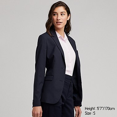 WOMEN STRETCH JACKET, NAVY, medium