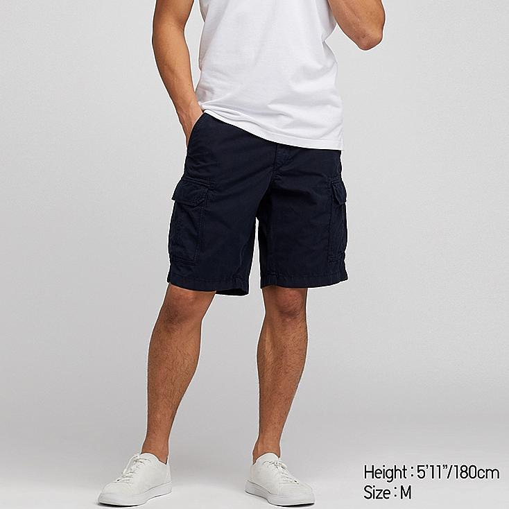 MEN CARGO SHORTS (ONLINE EXCLUSIVE), NAVY, large