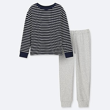 BOYS ULTRA STRETCH STRIPED SWEAT LOUNGE SET