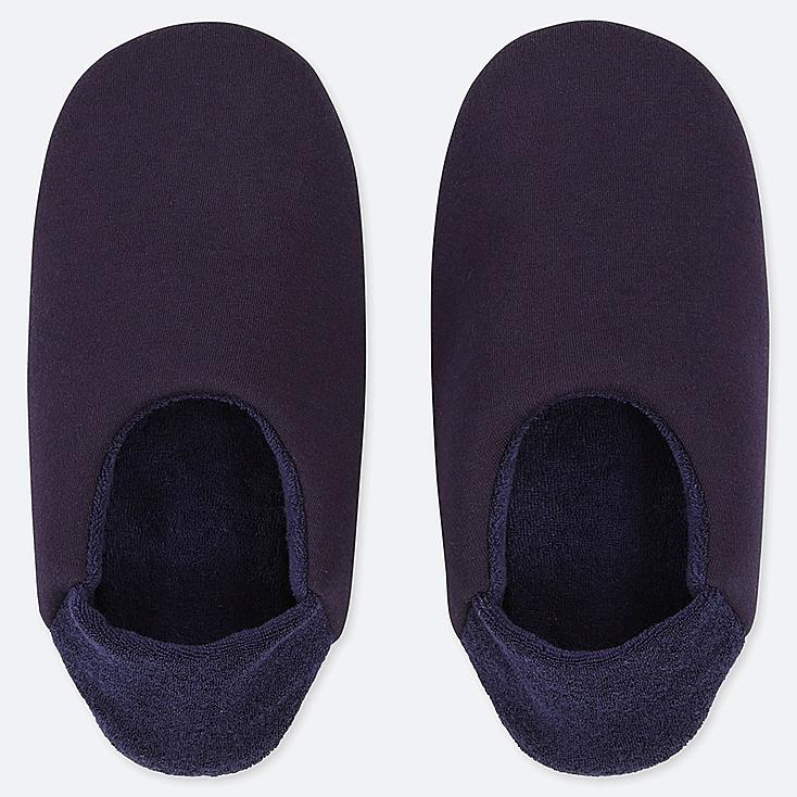 WOMEN FRENCH TERRY SLIPPERS, NAVY, large