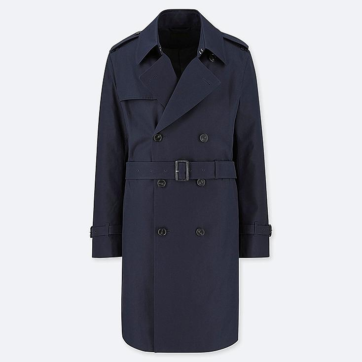 MEN TRENCH COAT, NAVY, large