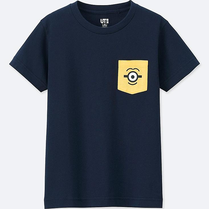 KIDS MINIONS SHORT-SLEEVE GRAPHIC T-SHIRT, NAVY, large