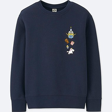 KIDS MINIONS LONG-SLEEVE SWEATSHIRT, NAVY, medium