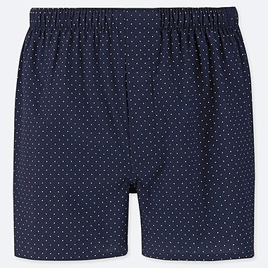 MEN WOVEN DOTTED TRUNKS