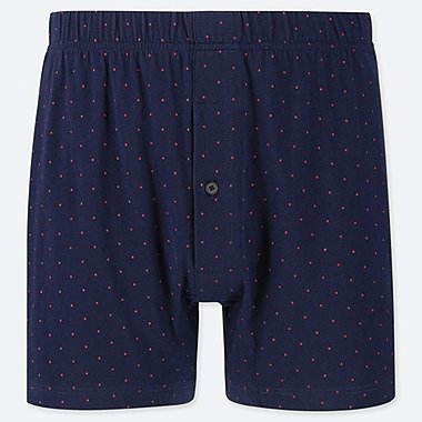 MEN KNIT DOTTED BOXER TRUNKS
