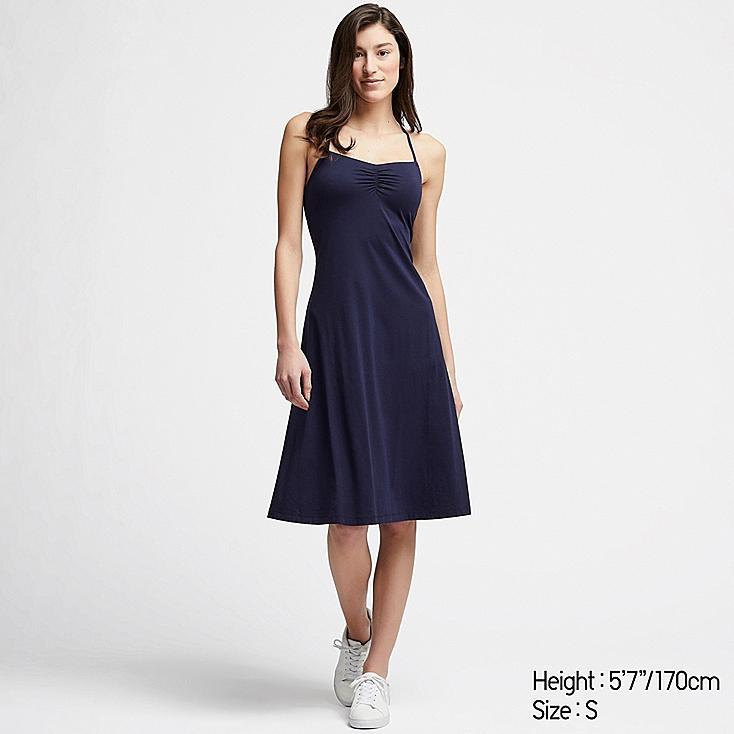 WOMEN CAMISOLE BRA DRESS, NAVY, large