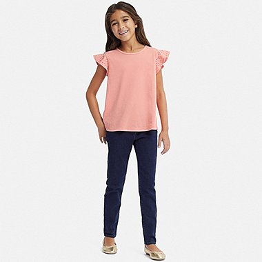 GIRLS ULTRA STRETCH DENIM SKINNY FIT PANTS, NAVY, medium