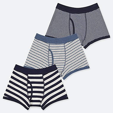 BOYS STRIPED BOXER BRIEFS (THREE PAIRS)