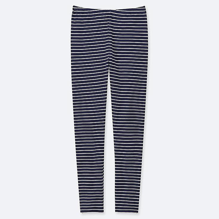 GIRLS STRIPED LEGGINGS, NAVY, large