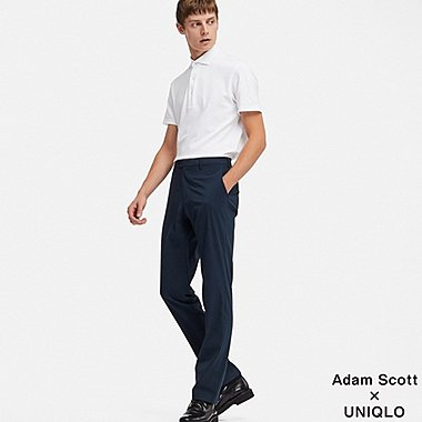 MEN SEERSUCKER KANDO PANTS (ULTRA LIGHT), NAVY, medium