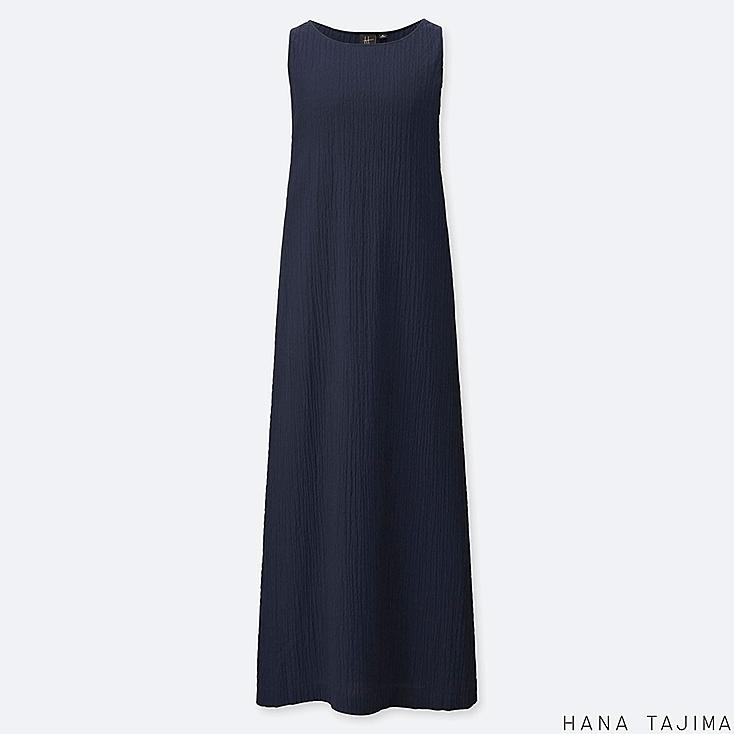 women Shirring sleeveless long dress