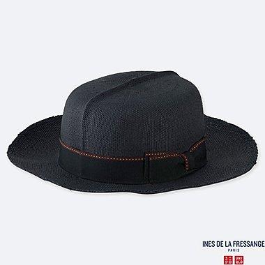 WOMEN PAPER OPTIMO HAT (INES DE LA FRESSANGE), NAVY, medium