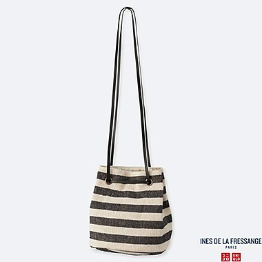 WOMEN JUTE BASKET (INES DE LA FRESSANGE), NAVY, medium