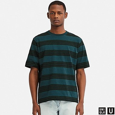 MEN UNIQLO U STRIPED SHORT SLEEVED T-SHIRT