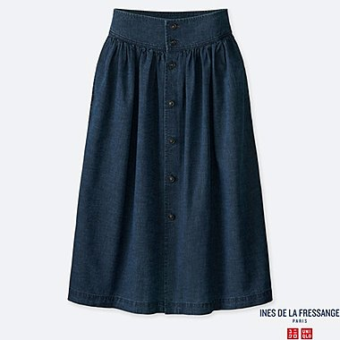 WOMEN INES COTTON GATHERED SKIRT