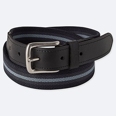MEN STRETCH TAPE BELT, NAVY, medium