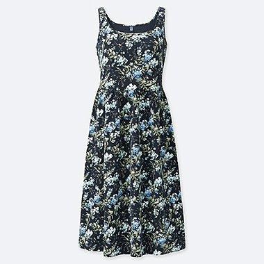 WOMEN STUDIO SANDERSON FOR UNIQLO SLEEVELESS BRA DRESS, NAVY, medium