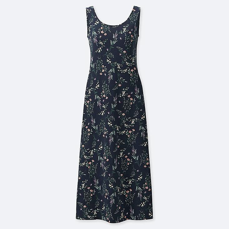 WOMEN STUDIO SANDERSON FOR UNIQLO SLEEVELESS BRA DRESS, NAVY, large