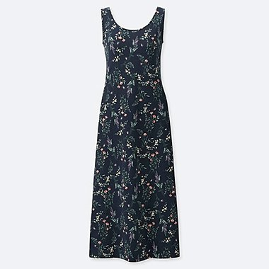 WOMEN STUDIO SANDERSON FOR UNIQLO SLEEVELESS BRA DRESS, NAVY, medium