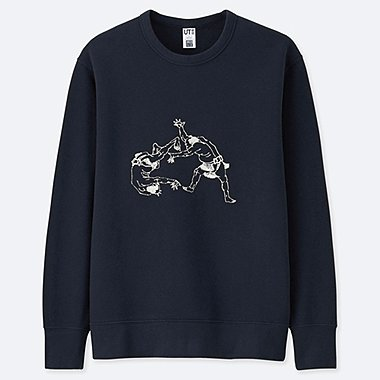 MEN HOKUSAI BLUE GRAPHIC SWEATSHIRT