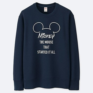 MEN CELEBRATE MICKEY GRAPHIC SWEATSHIRT, NAVY, medium