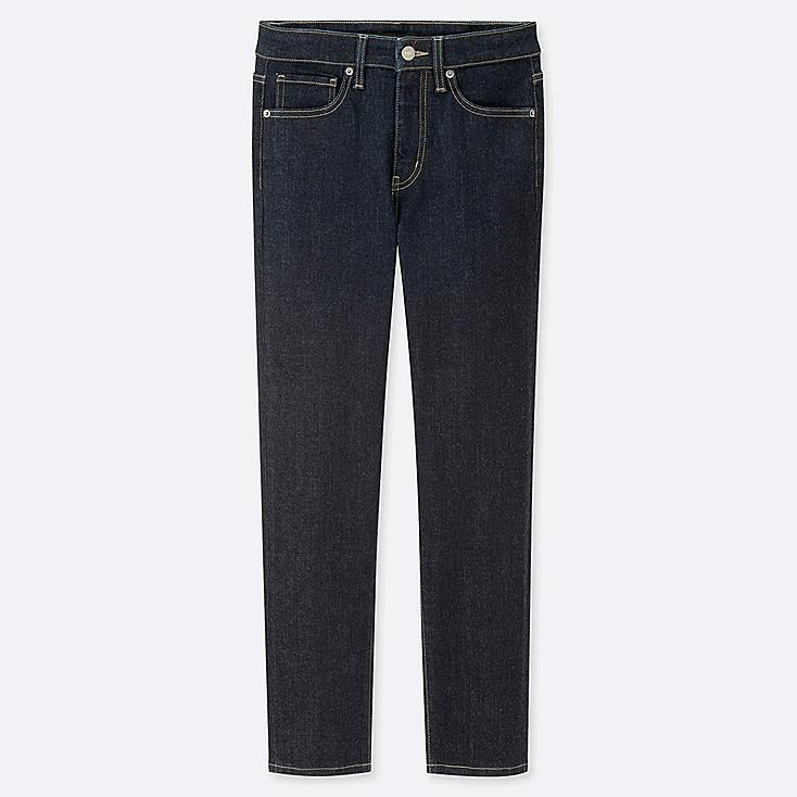 """WOMEN COMPRESSION HIGH-RISE SKINNY STRAIGHT ANKLE JEANS (TALL 31"""") (ONLINE EXCLUSIVE), NAVY, large"""