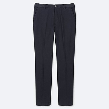 MEN EZY ANKLE-LENGTH PANTS (COTTON) (ONLINE EXCLUSIVE), NAVY, medium