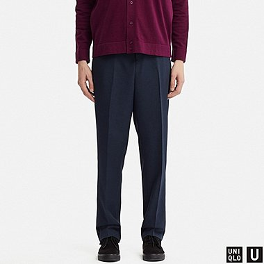 MEN U WIDE-FIT PANTS, NAVY, medium
