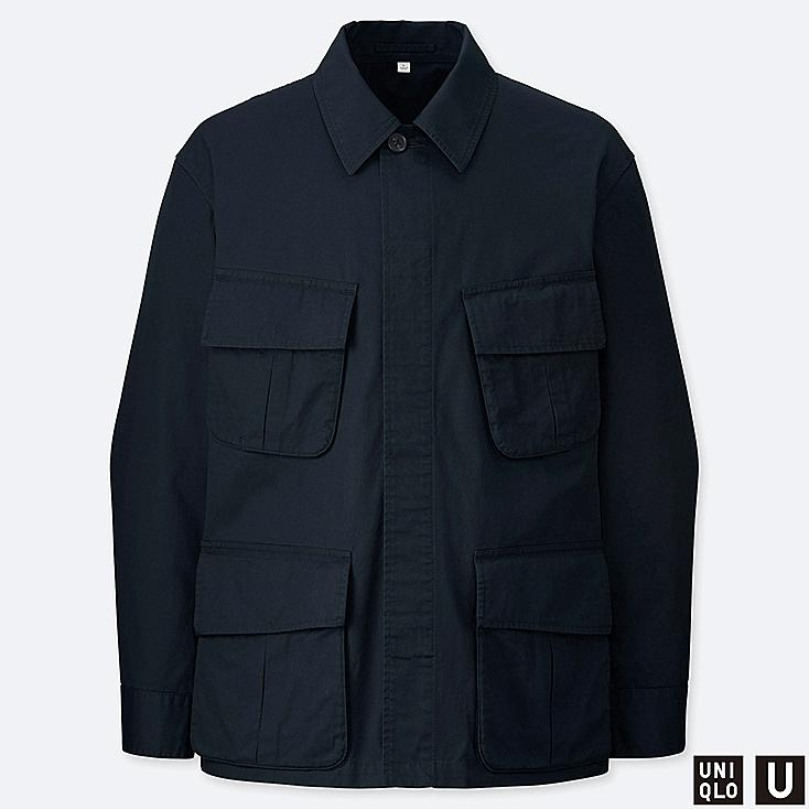 MEN U FATIGUE JACKET, NAVY, large