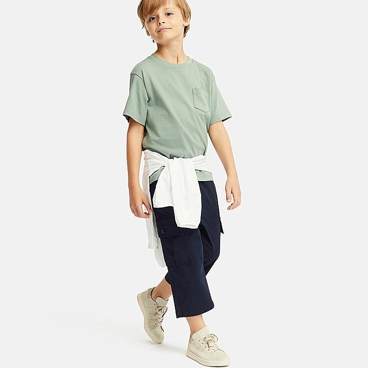 BOYS CARGO CROPPED PANTS, NAVY, large