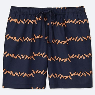 WOMEN U KAMAWANU COTTON RELACO SHORTS, NAVY, medium