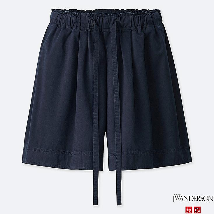 WOMEN FLARE SHORTS (JW Anderson), NAVY, large